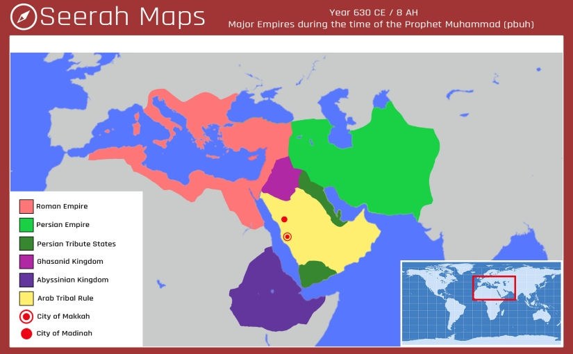 Map of Empires in 630 CE